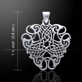 "Thread of Life - Large Celtic Knot Sterling Silver Pendant, 18"" Chain Necklace - Silver Insanity"