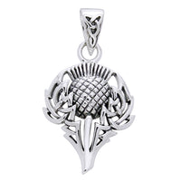 Celtic Spirit of Alba Thistle Sterling Silver Pendant - Silver Insanity