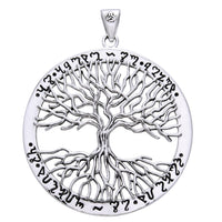Wiccan Twisted Tree of Life Amulet Sterling Silver Pendant - Silver Insanity