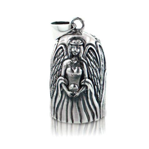 Angel Wing Rings Sterling Silver Bell Pendant Ornament - Silver Insanity