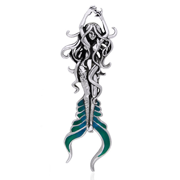 Sea Mermaid of Atlantis Sterling Silver Slide Pendant by Selina Fenech - Silver Insanity