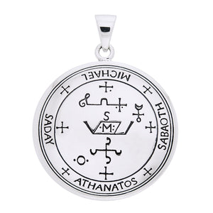 Sigil of the Archangel Michael Talisman Sterling Silver Pendant - Silver Insanity