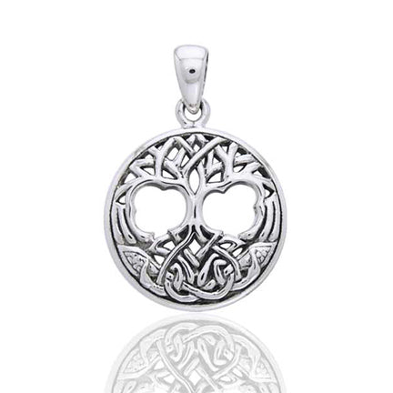 United Worlds - Tree of Life Celtic Knot Symbol Sterling Silver Pendant - Silver Insanity