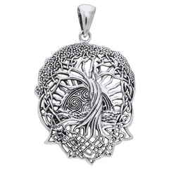 Rising Sun - Interconnect Celtic Knot Tree of Life Sterling Silver Pendant