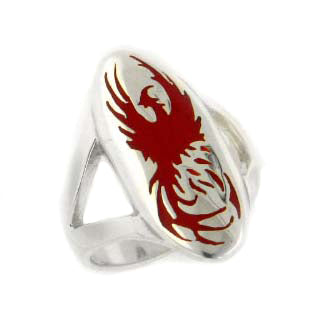 Rising Phoenix from Ashes Sterling Silver Ring - Silver Insanity