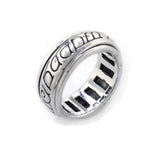 Sterling Silver Elvish Language Spinning Spin Band Ring of Power