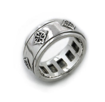 North Star - Sterling Silver Celtic Knot Symbol Meditation Spin Ring - Silver Insanity