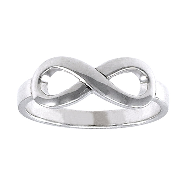 Sterling Silver Infinity Band Eternal Love Ring - Silver Insanity