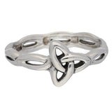 Sideways Angled Trinity Knot Ring in Sterling Silver - Silver Insanity