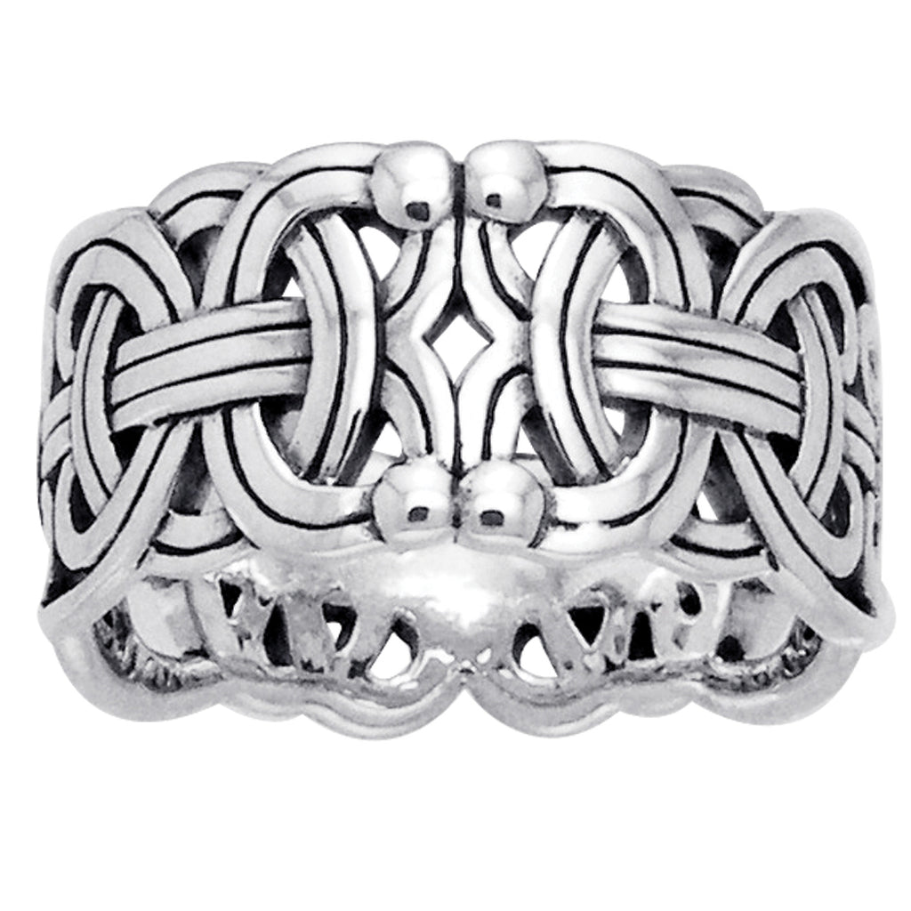 Viking Braided Borre Knot Sterling Silver Ring