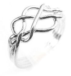 Sterling Silver 4-Band Open Weave Puzzle Ring - Silver Insanity