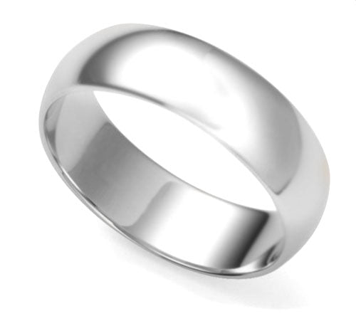 Solid Sterling Silver 7mm Wedding Band Ring - Silver Insanity