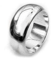 Solid Sterling Silver 8mm Wedding Band Ring - Silver Insanity