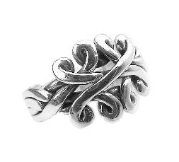 Sterling Silver Celtic Knot Puzzle Band Ring - Silver Insanity