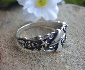Heavy Sterling Silver Fantasy MUSHROOM Ring - Silver Insanity