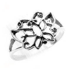 Sterling Silver Dainty Openwork Butterfly Ring - Silver Insanity