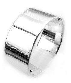 Mens Large Sterling Silver 10mm Wide Wedding Band Ring