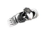 Sterling Silver Celtic Claddagh Puzzle Band Ring