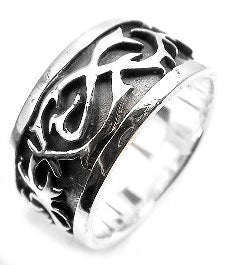 Sterling Silver Tangled Barbwire Band Ring Size 9 - Silver Insanity
