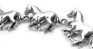 Heavy Horses Sterling Silver HORSE Link Bracelet - Silver Insanity