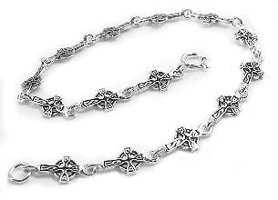 Sterling Silver Celtic Sun Knot Cross 7