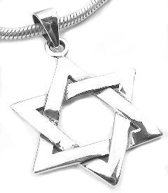 Sterling Silver Jewish Star of David Charm Pendant