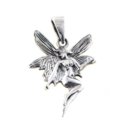 Sterling Silver Cute Fairy or Pixie Charm Pendant - Silver Insanity