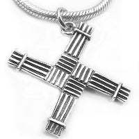 Saint Bridget St. Brigid Cross Sterling Silver Pendant - Silver Insanity