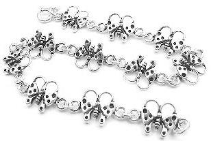Sterling Silver Linked Butterfly Charm 7.5