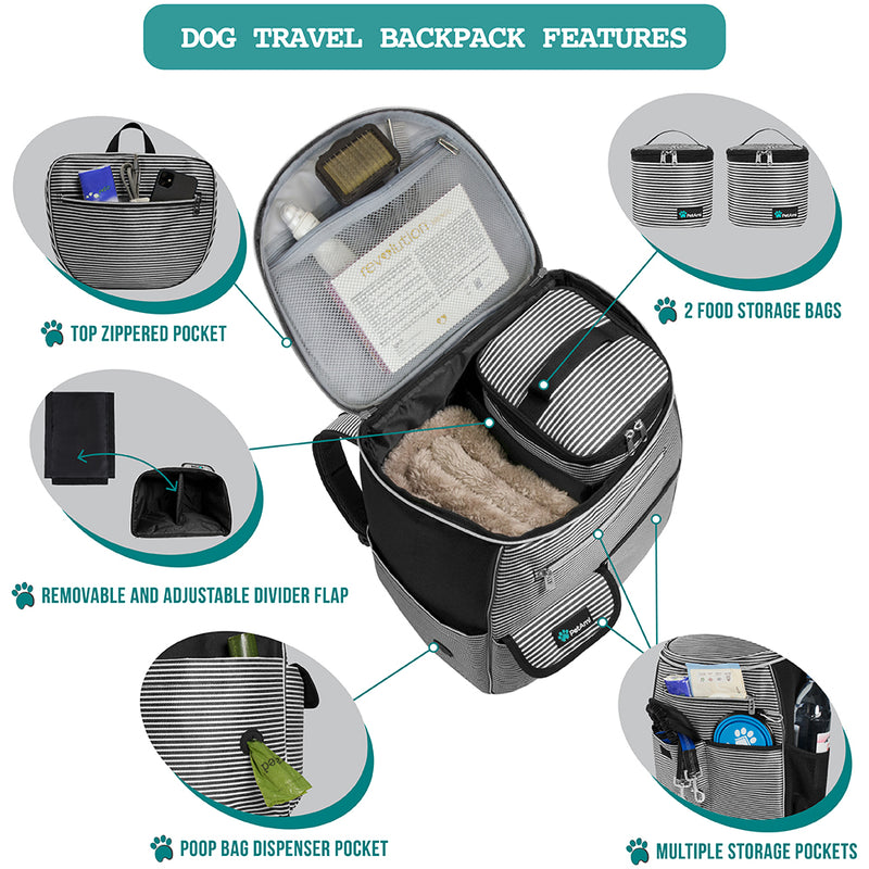Deluxe Pet Travel Set Organizer Backpack