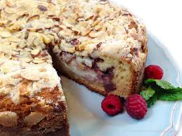 Raspberry-Almond Cream Cheese Crumb Cake