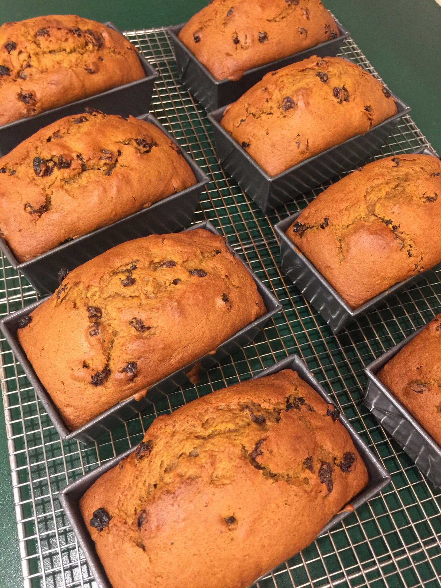 1/26 Buggy Bake - Mini Loaf Pumpkin Chocolate Chip Bread