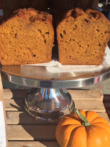 Slice of Pumpkin Bread (plain, raisin, or chocolate chip)