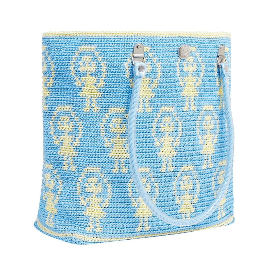 Blue Skipping Girl Carry All Tote Bag