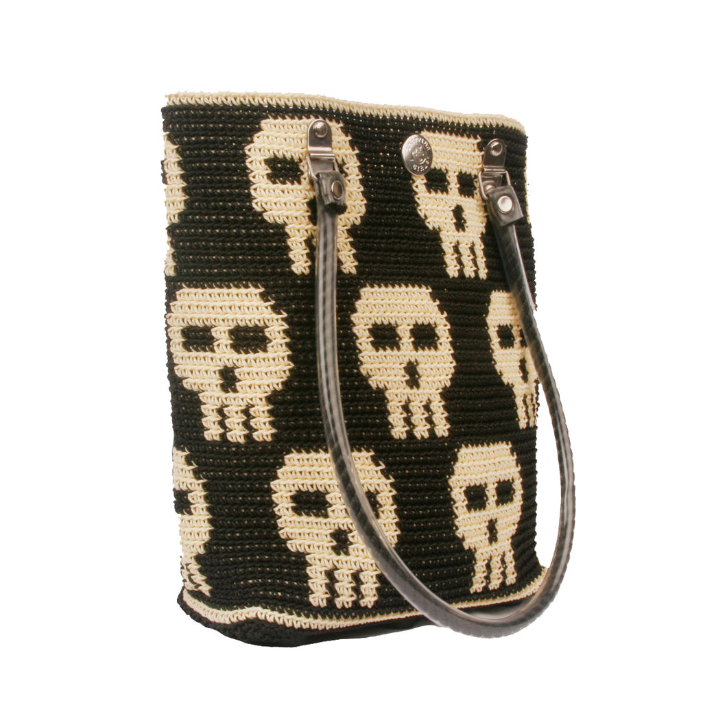 Classic Skull Tote Bag **BEIGE HANDLE**