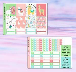 Ilama Planner Stickers | Erin Condren | Weekly Kit