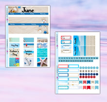 Load image into Gallery viewer, June Planner Stickers | Erin Condren | Monthly Kit | Printable