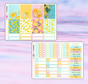 Lemonade Planner Stickers | Erin Condren | Weekly Kit