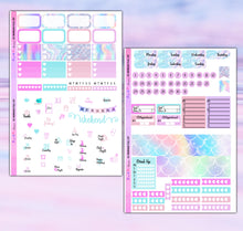 Load image into Gallery viewer, Mermaid Planner Stickers | Erin Condren | Weekly Kit | Printable