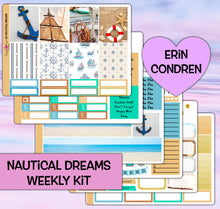 Load image into Gallery viewer, Nautical Dreams Planner Stickers | Erin Condren | Weekly Kit