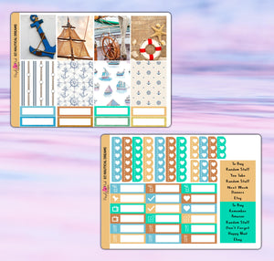 Nautical Dreams Planner Stickers | Erin Condren | Weekly Kit