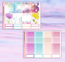 Load image into Gallery viewer, Watercolor Flowers Planner Stickers | Erin Condren | Weekly Kit