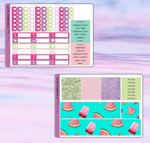 Watermelon Planner Stickers | Erin Condren | Weekly Kit