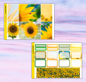 Sunflowers Planner Stickers | Happy Planner | Weekly Kit