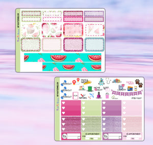 Watermelon Planner Stickers | Happy Planner | Weekly Kit