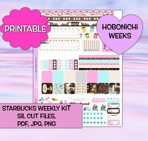 Starbucks Planner Stickers | Hobonichi Weeks | Weekly Kit