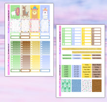 Load image into Gallery viewer, Ilama Planner Stickers | Erin Condren | Weekly Kit | Printable