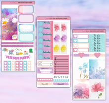Load image into Gallery viewer, Watercolor Flowers Planner Stickers | Print Pression Weeks | Weekly Kit
