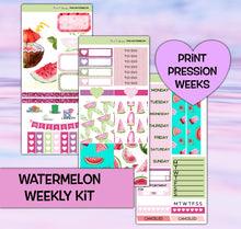 Load image into Gallery viewer, Watermelon Planner Stickers | Print Pression Weeks | Weekly Kit