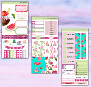 Watermelon Planner Stickers | Print Pression Weeks | Weekly Kit